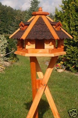 Deko-Shop-Hannusch Vogelfutterhaus mit Ständer, Vogelfutterhaus mit Futtersilo