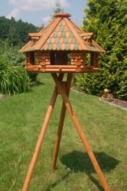 Deko-Shop-Hannusch XXL massives Luxus Vogelfutterhaus mit Futtersilo