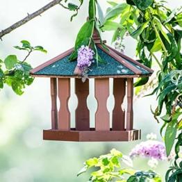 Vogelfutterhaus aus Holz zum Aufhängen Futterstation, Futterstelle