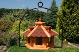 Vogelhaus hängend, Vogelfutterhaus mit Futtersilo